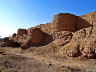 0014 Kashan Jalali castle and walls Кашан Замок Джалали и стены